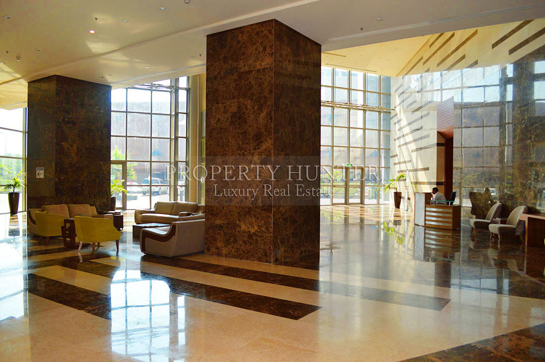 Spacious office space with attractive views
