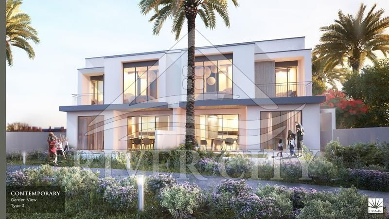 Investment with guaranteed premium addition of maple townhouses at dubai hills