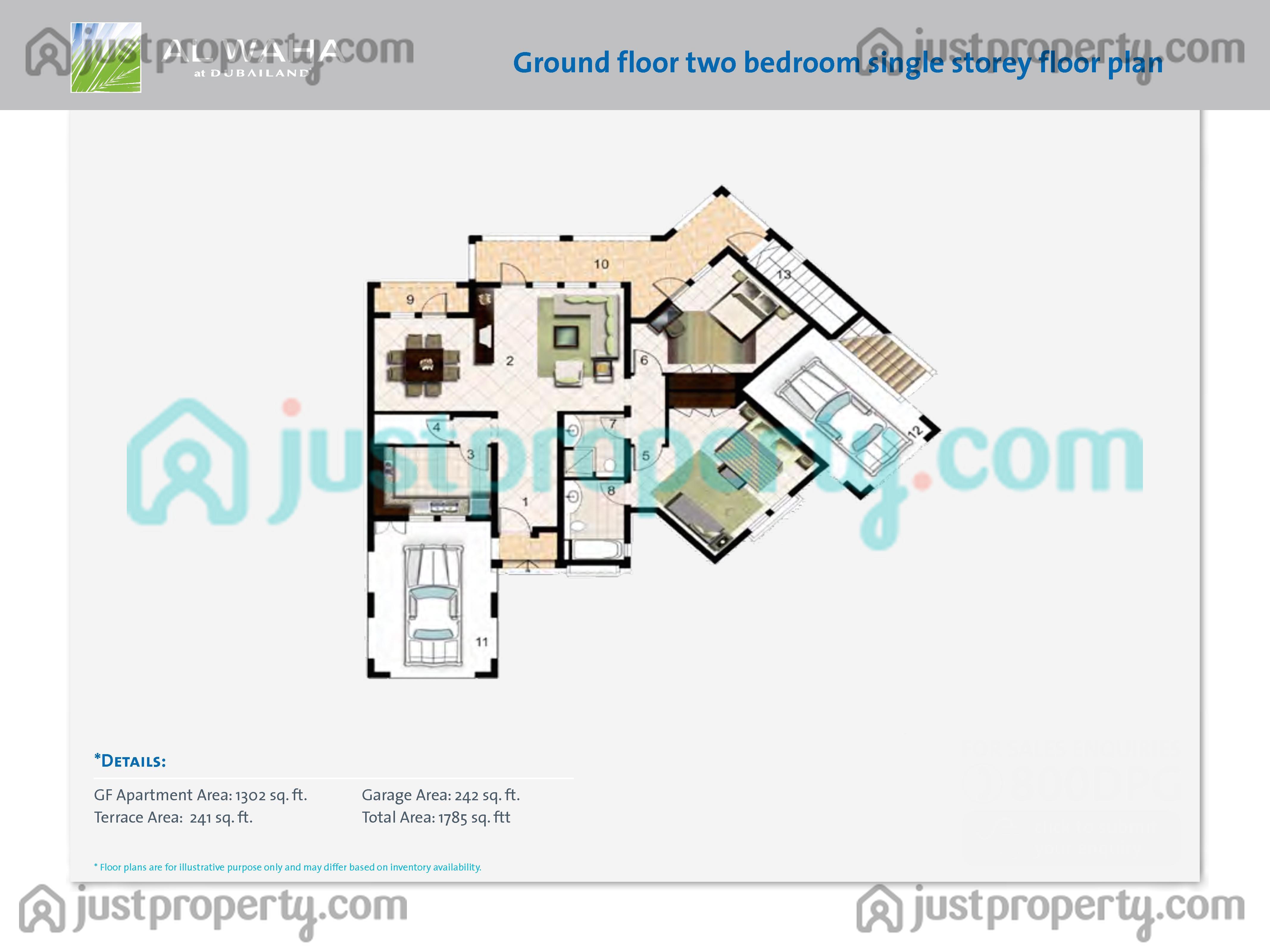 Al Waha Villas Floor Plans Justproperty Com