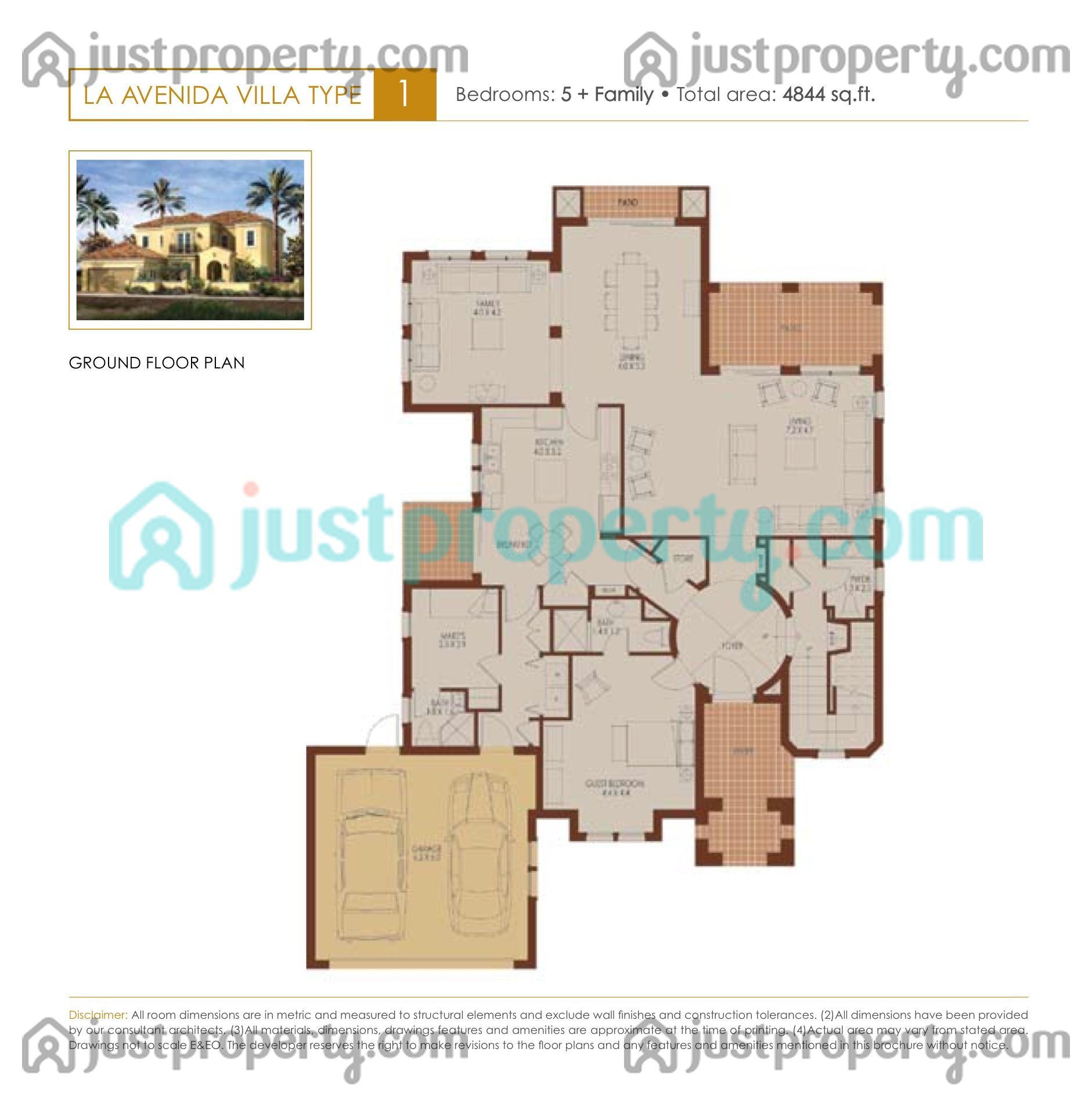 La avenida 1 floor plans for 5br house plans
