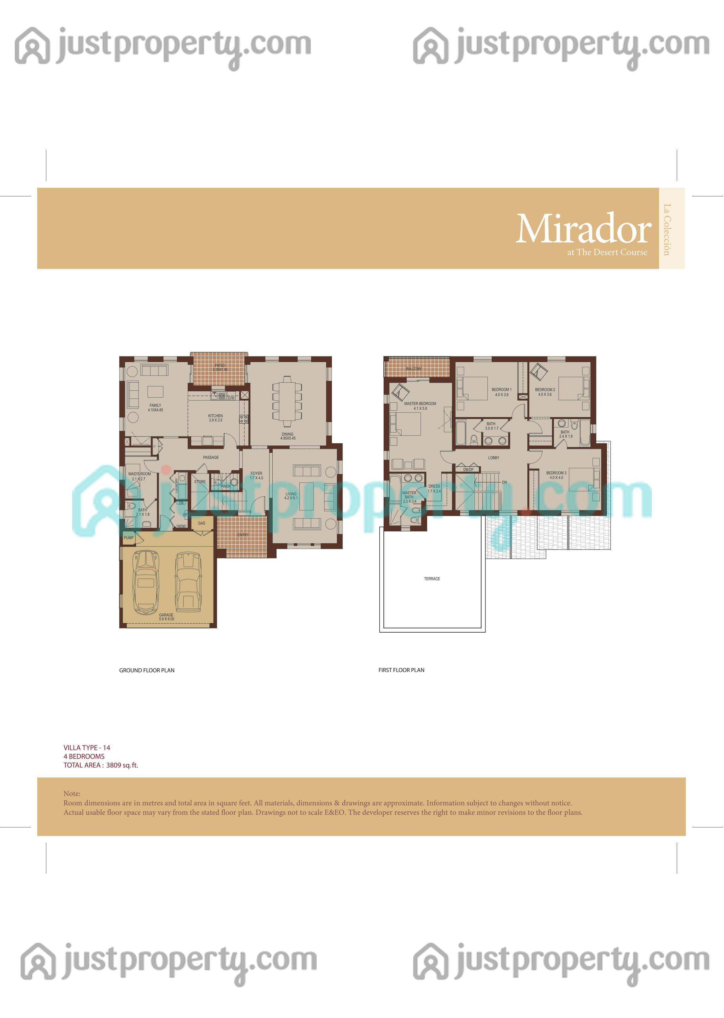 Mirador la coleccion floor plans for 5br house plans