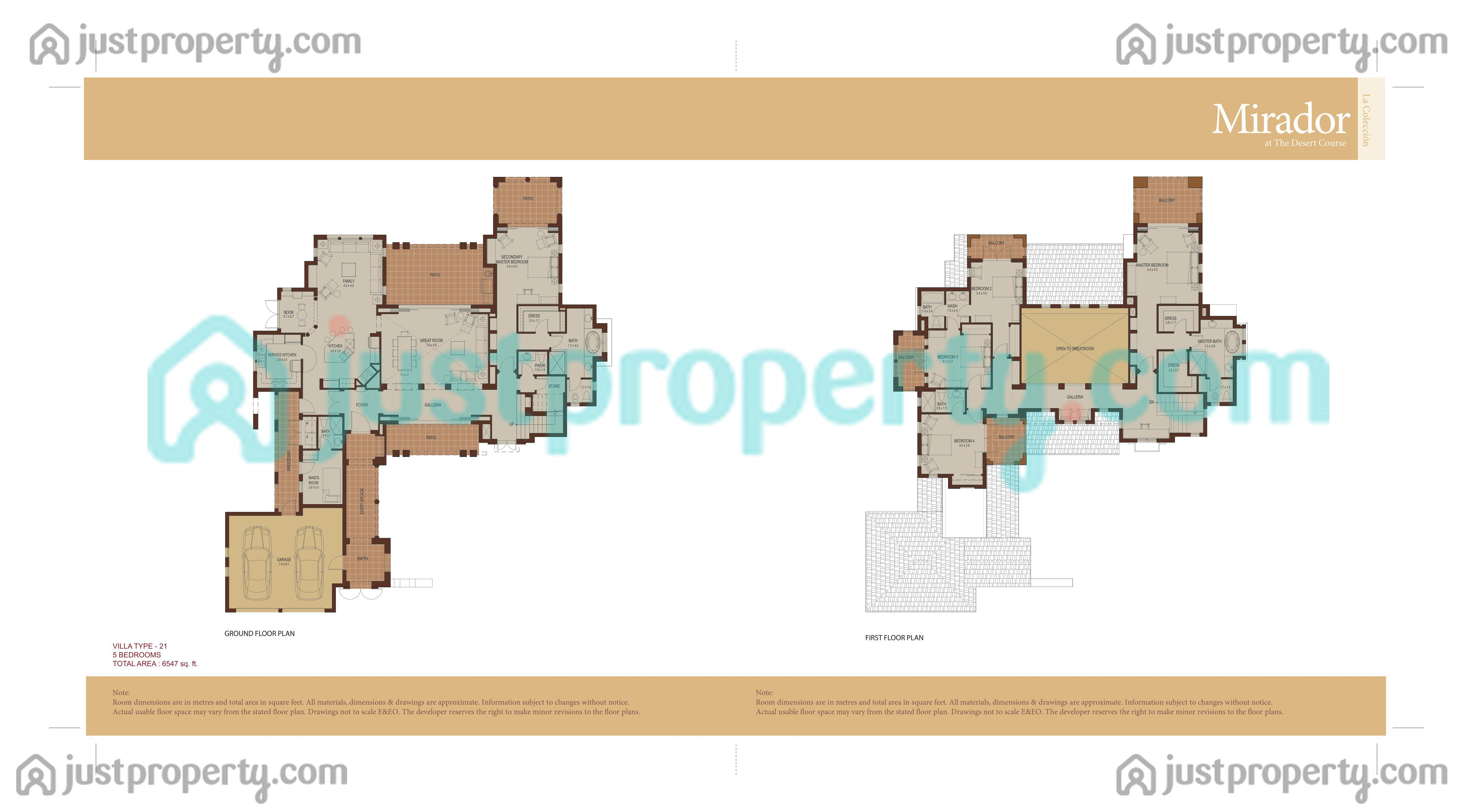 Mirador La Coleccion Floor Plans