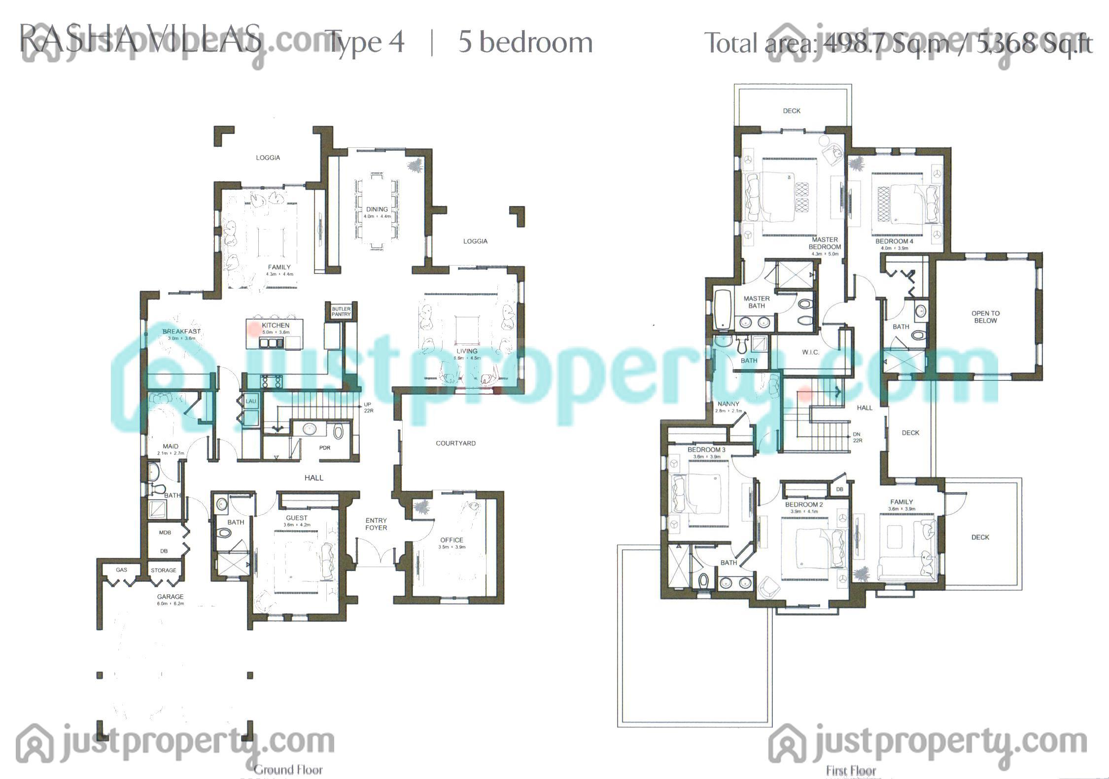Rasha floor plans for 5br house plans