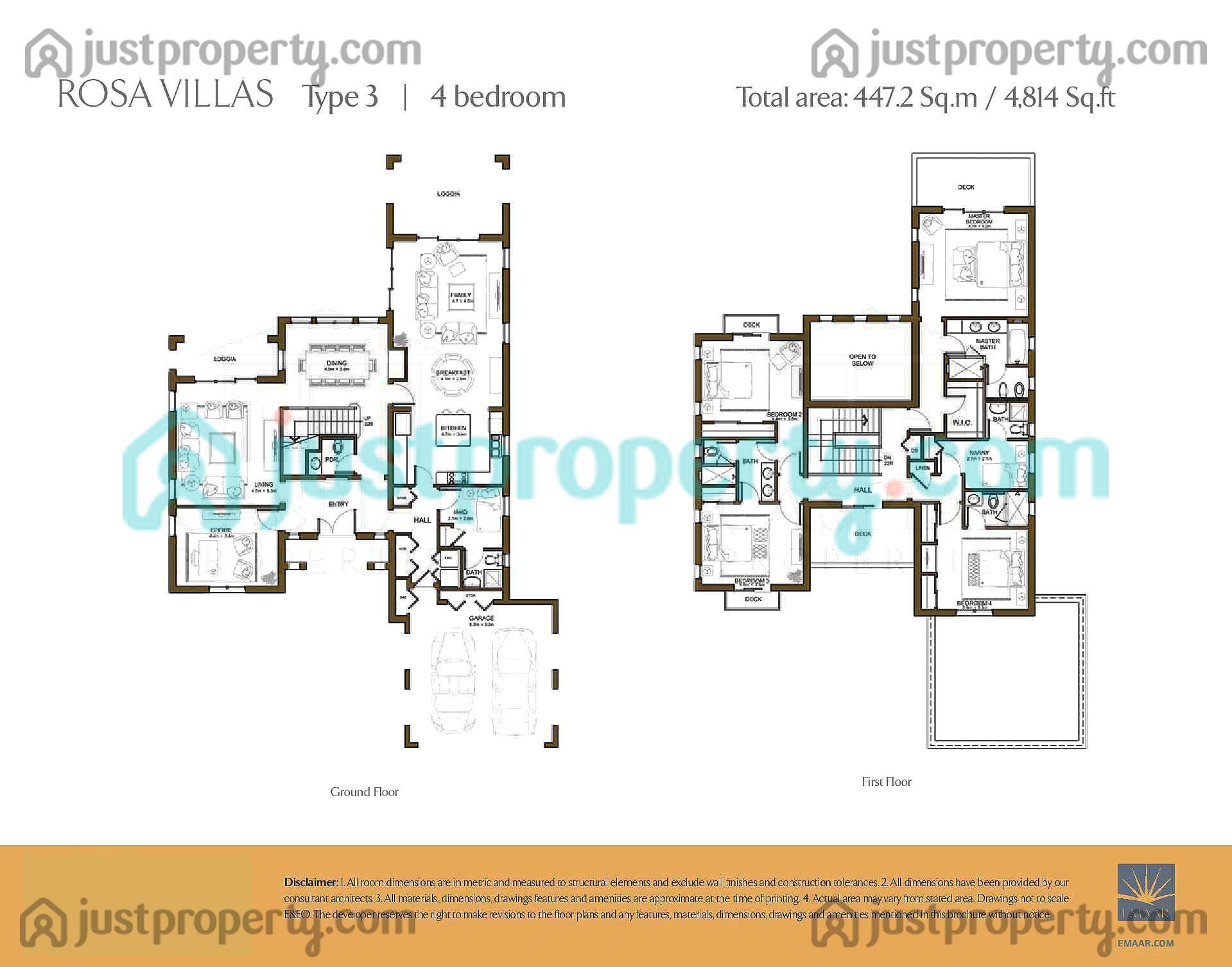 Rosa floor plans for 5br house plans