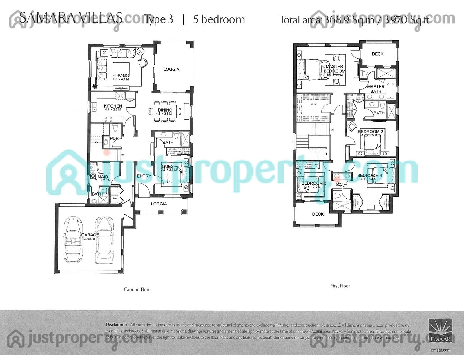 Samara floor plans for 5br house plans