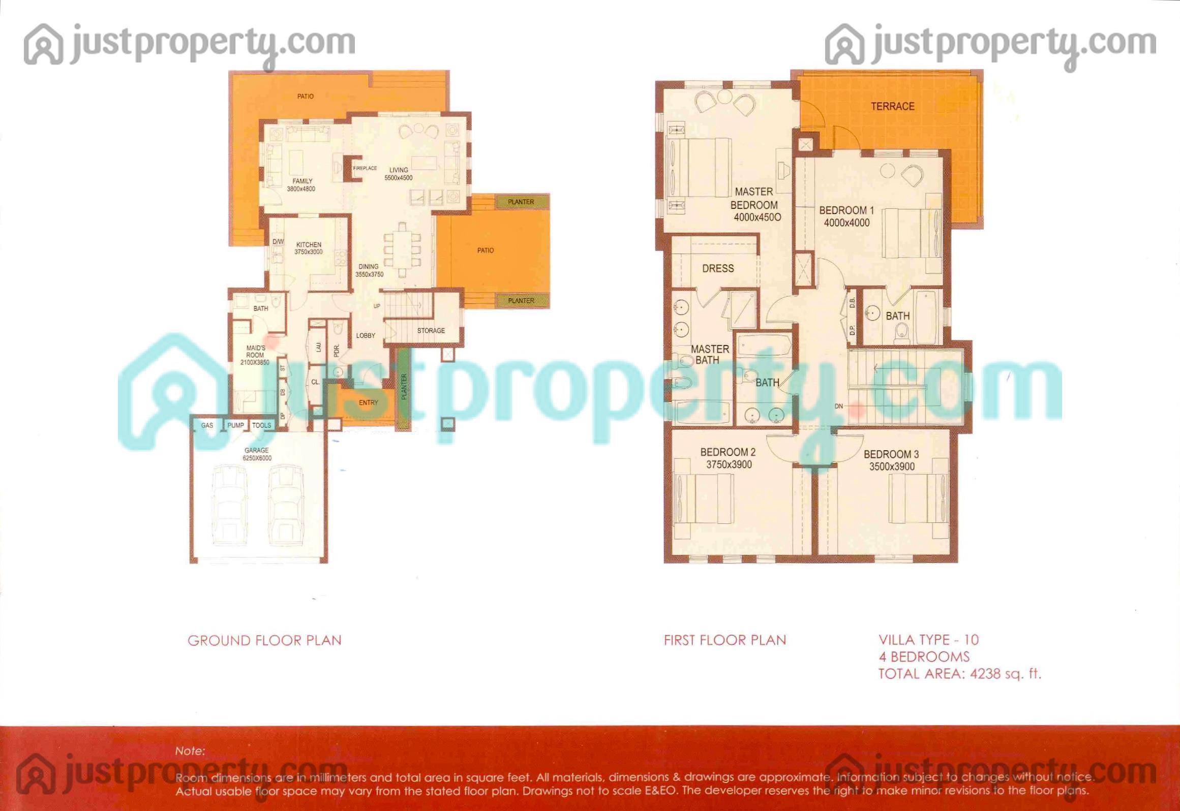 Terra Nova Floor Plans   JustProperty com