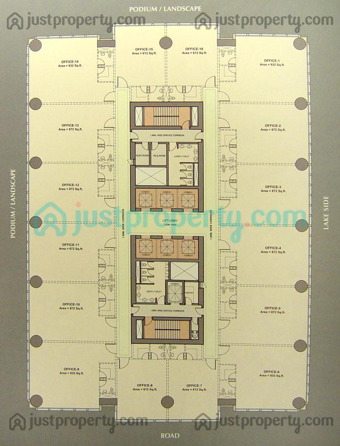 Floor Plans For Businesses | Churchill Executive Tower Floor Plans Justproperty Com