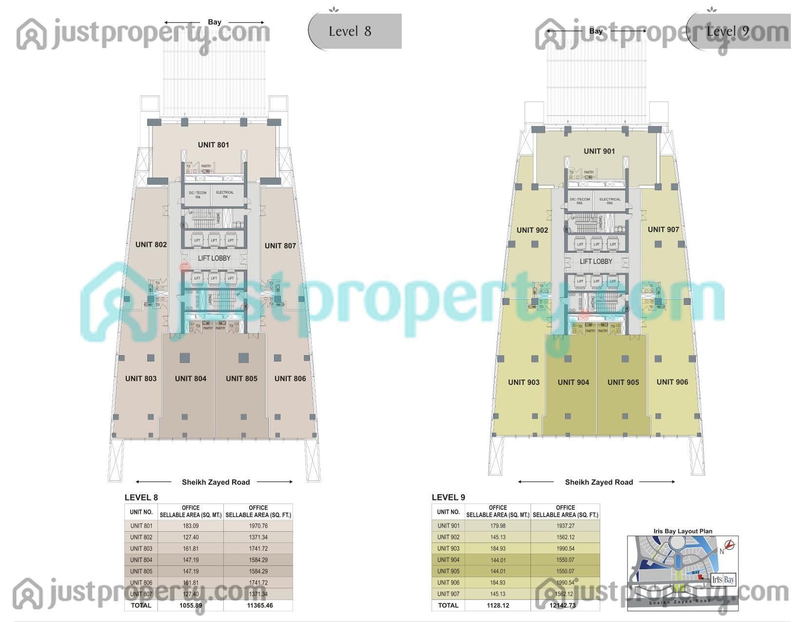 Iris Bay Double Layout Floor Plans | JustProperty com