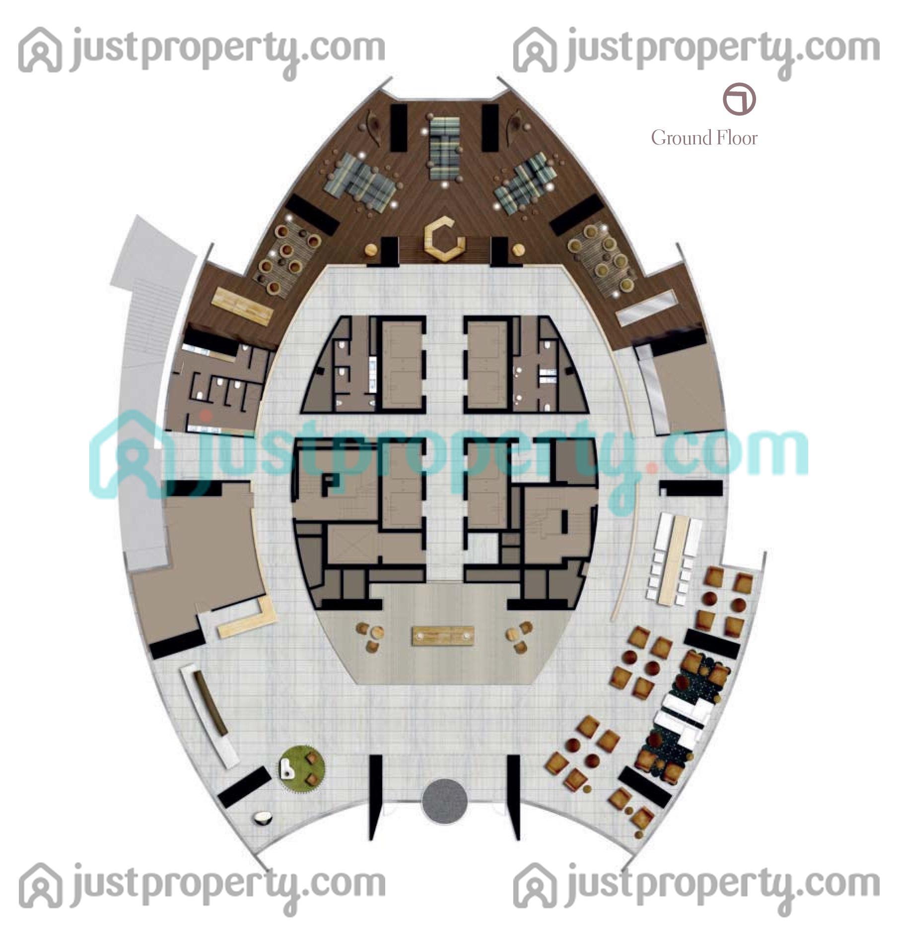 D1 Tower Floor Plans   JustProperty.com
