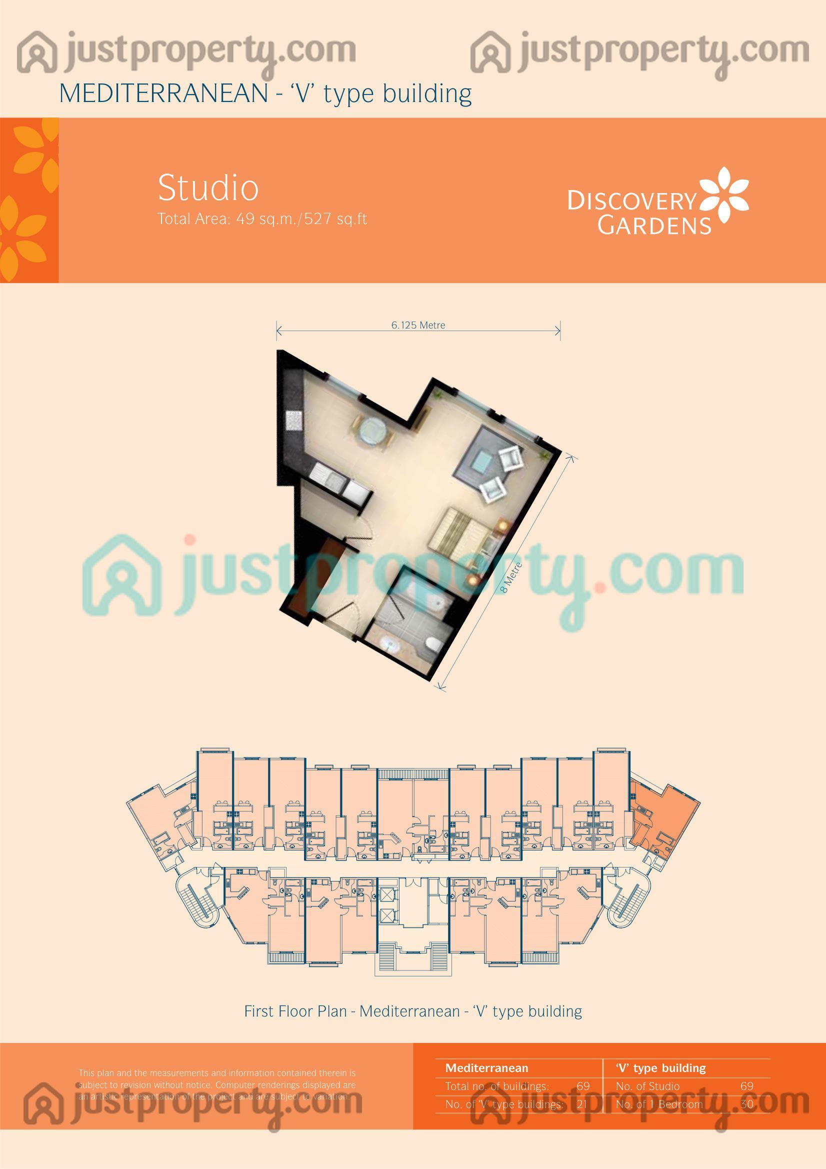 Mediterranean floor plans for Studio type plan