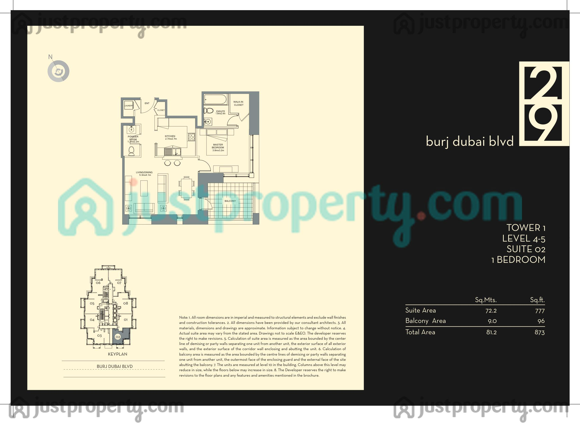 Nice 5 29 Plan #9: Floor Plans For 29 Boulevard Tower 1