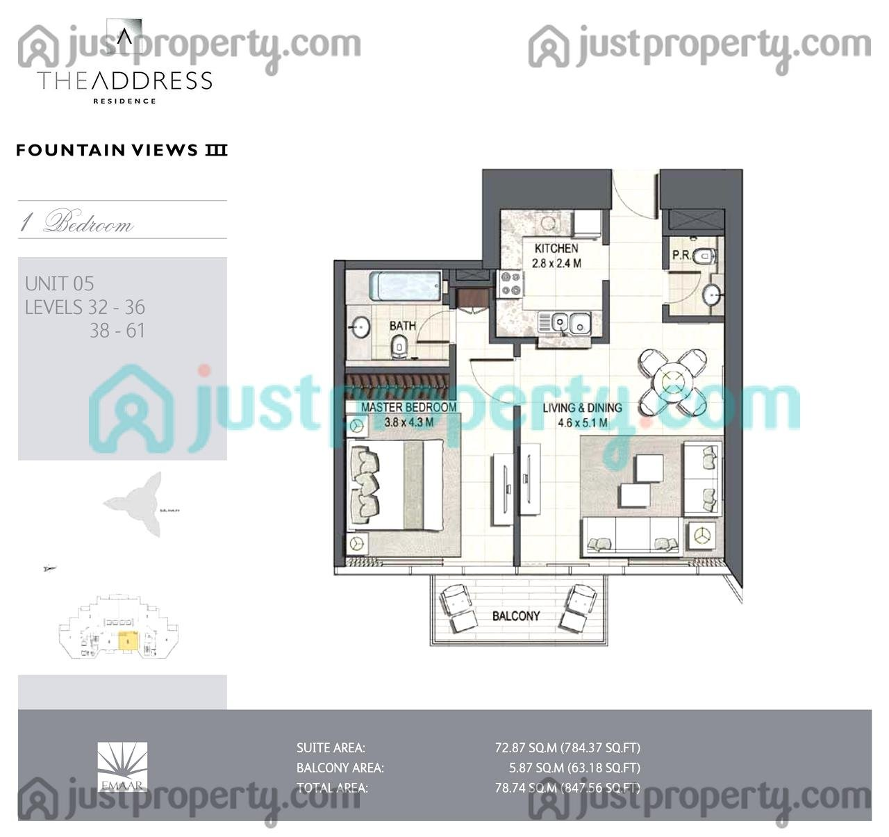 Address fountain views 3 floor plans for Floor plans by address