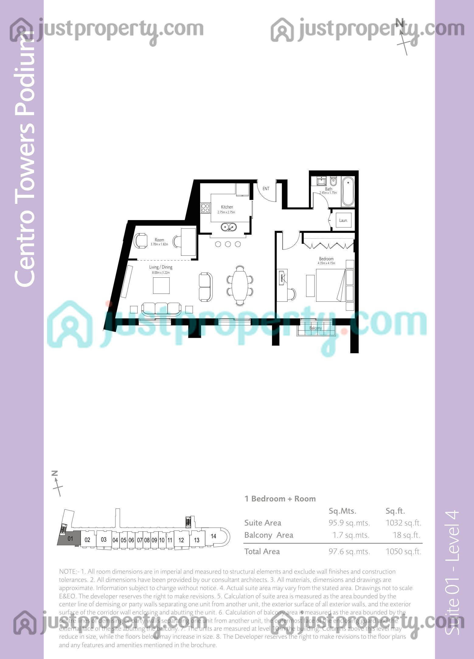 Boulevard Central Podium Floor Plans   JustProperty.com