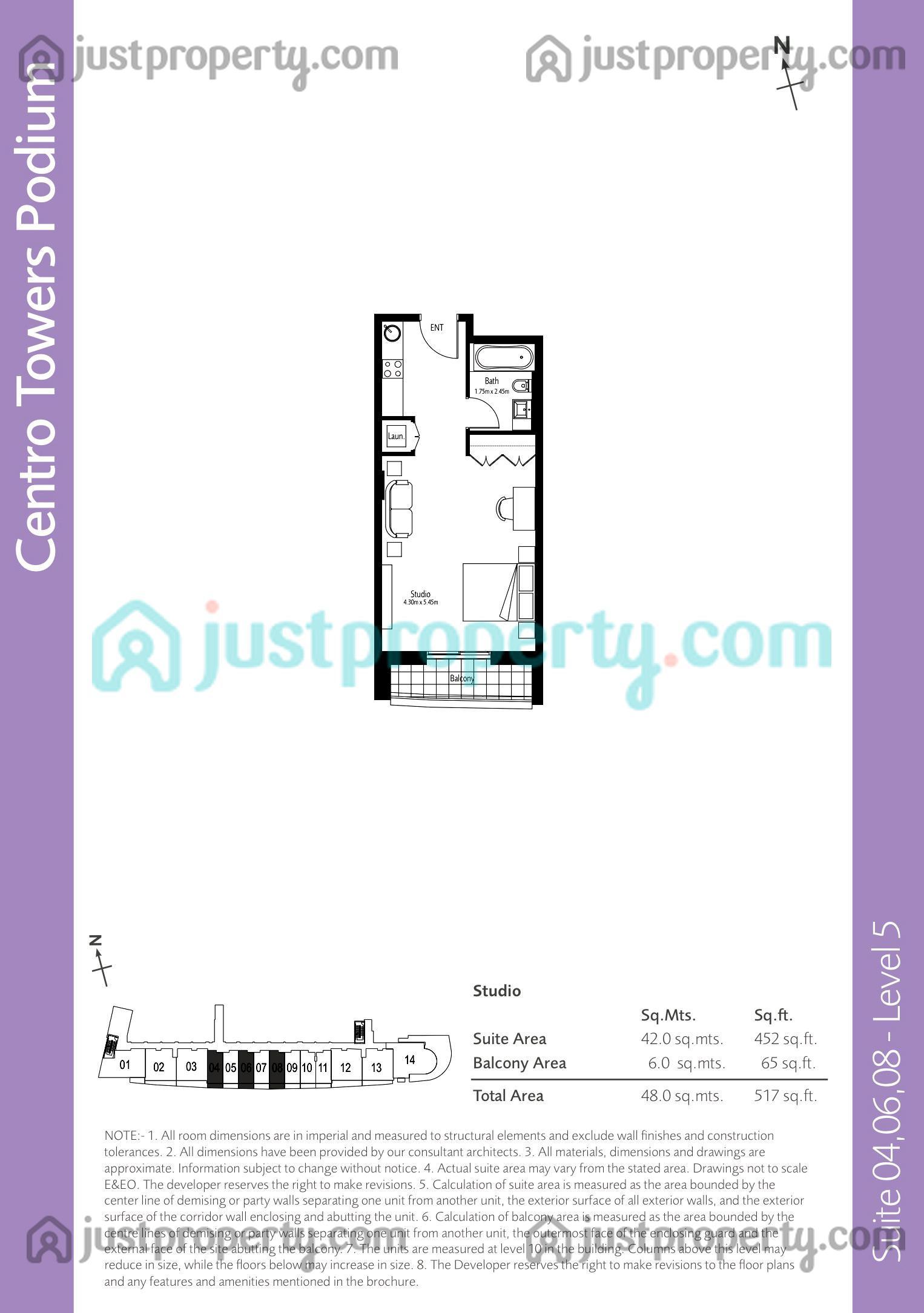 Boulevard Central Podium Floor Plans | JustProperty com