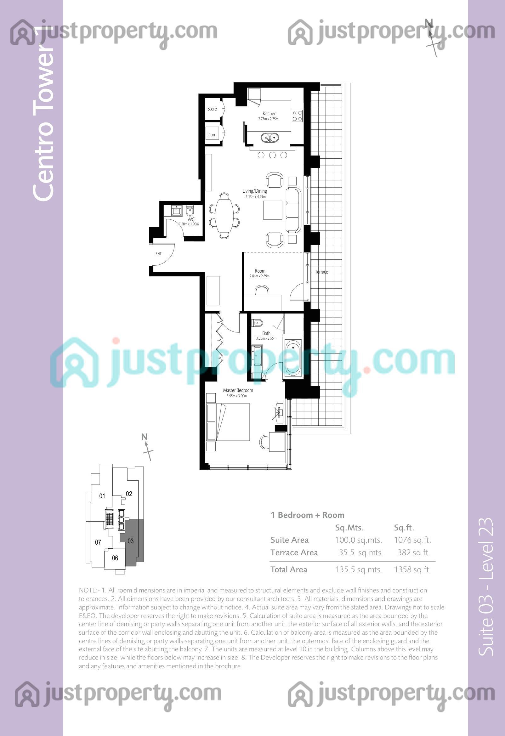Boulevard central tower 1 floor plans for Bc floor plans