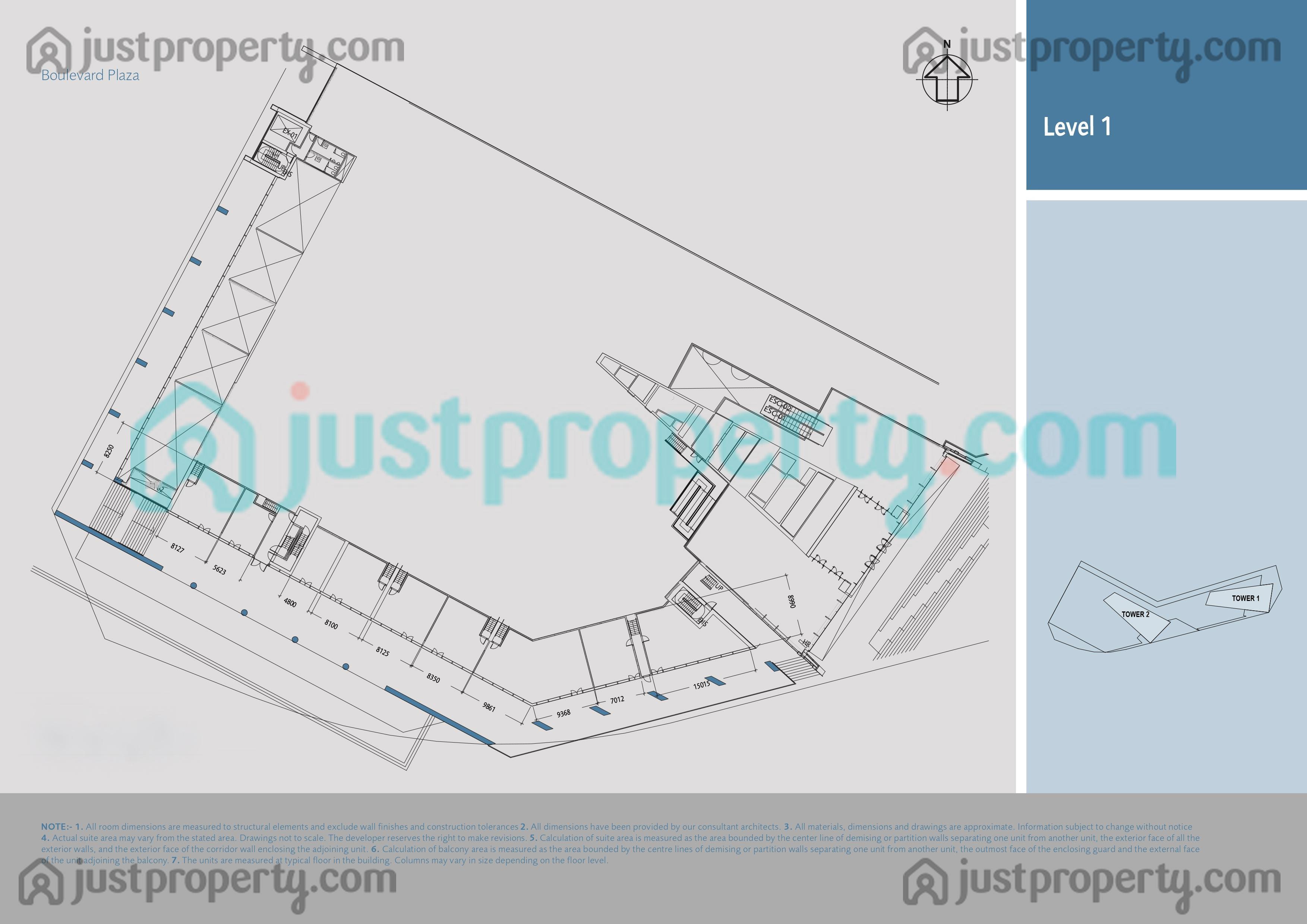 Boulevard Plaza Tower 2 Floor Plans Justproperty Com