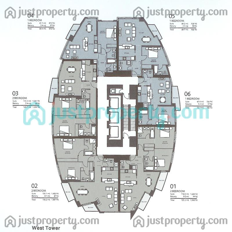Floor Plans For West Tower C