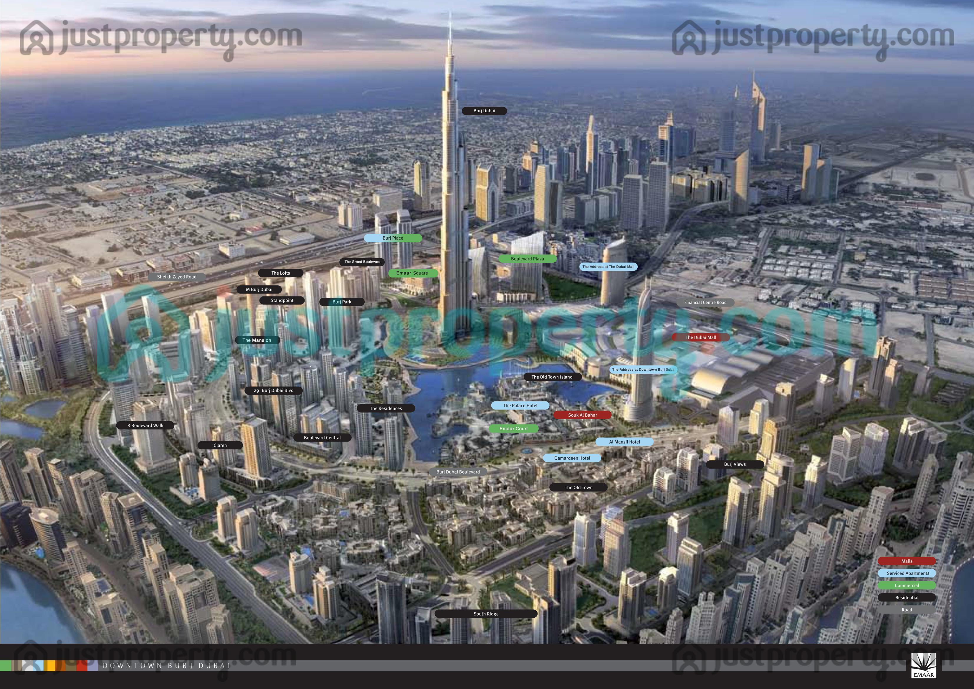 Downtown Dubai Floor Plans Justproperty Com