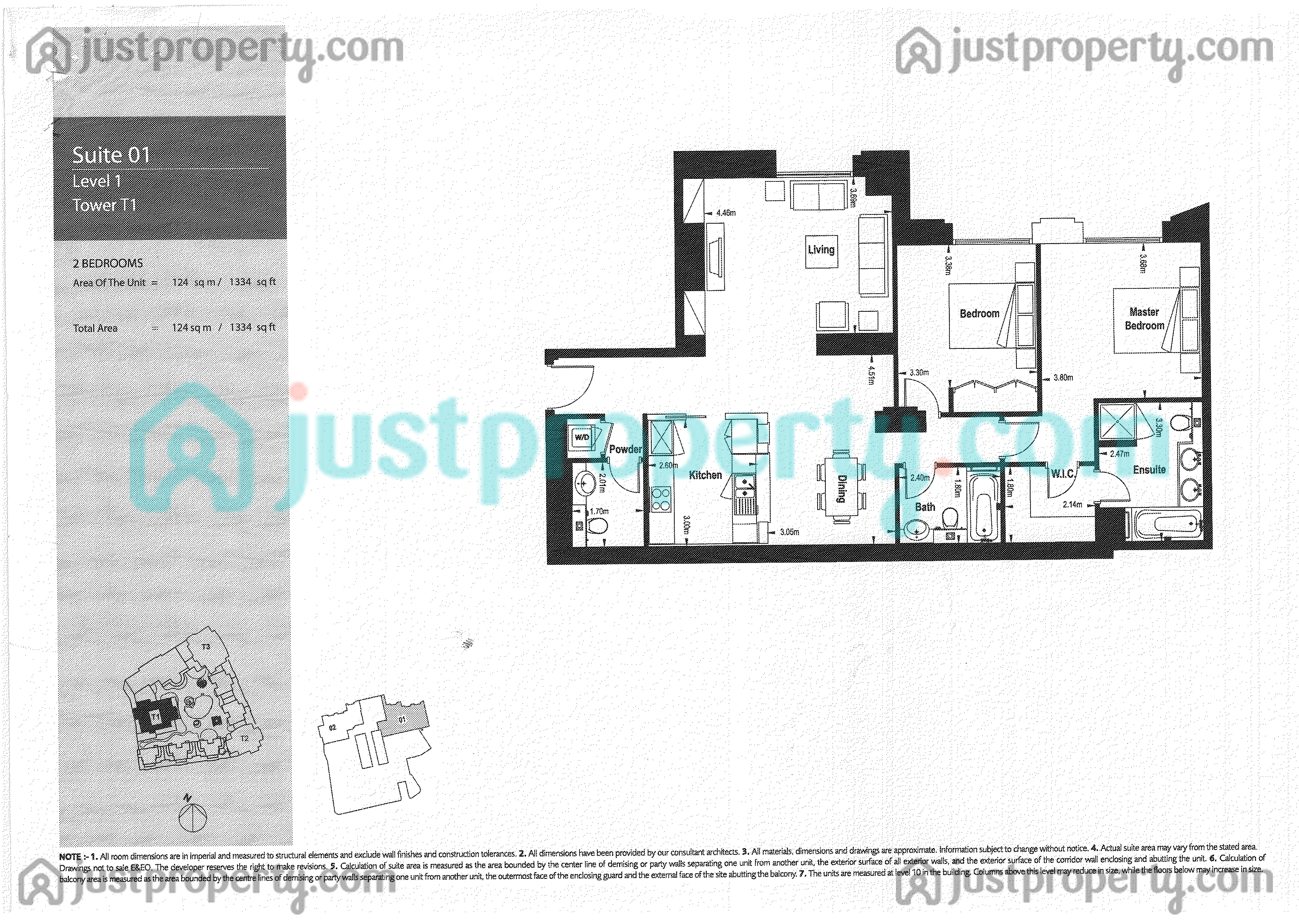 Floor Plans For Tower 8 T1