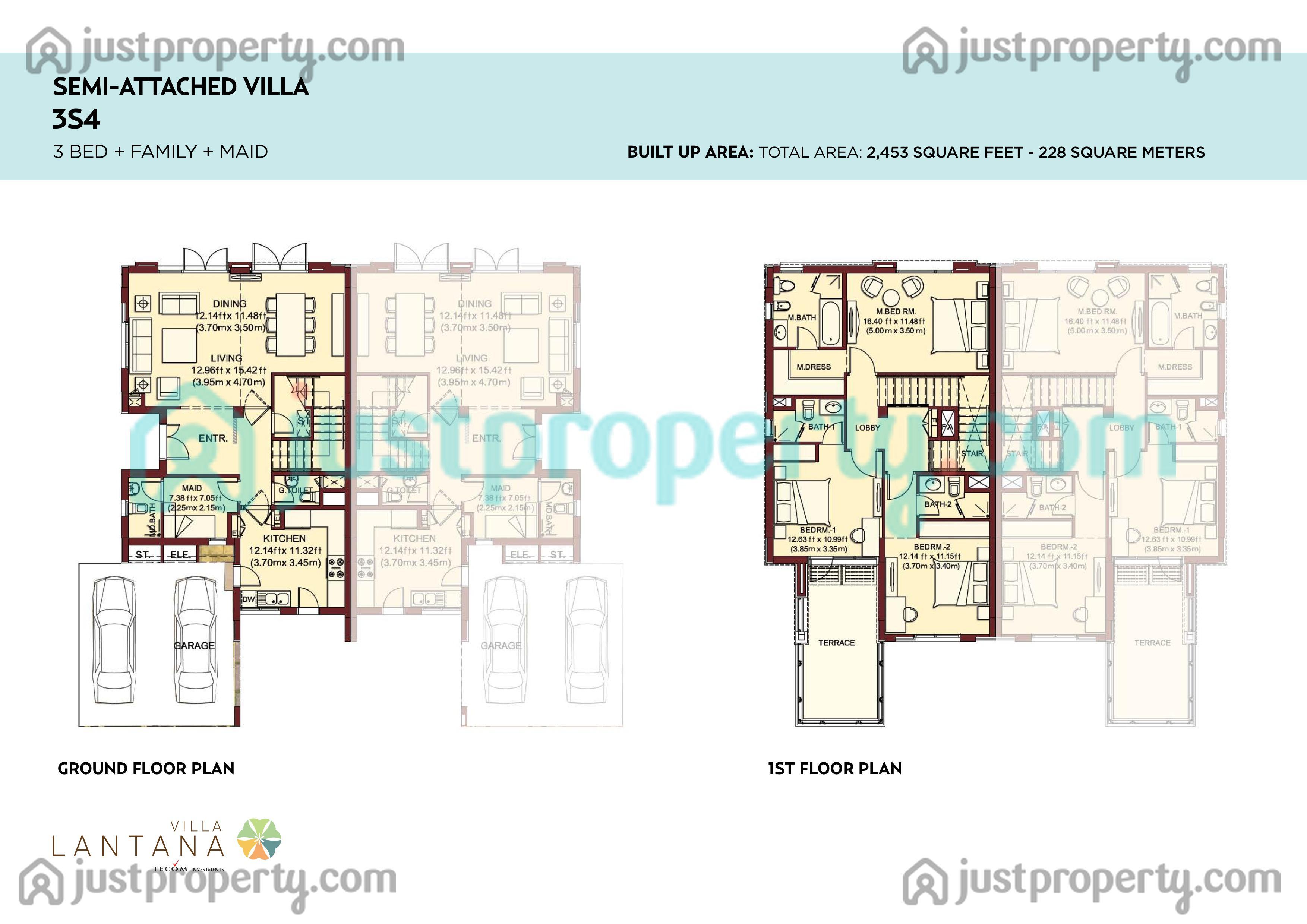 Lantana villas floor plans for Villas floor plans