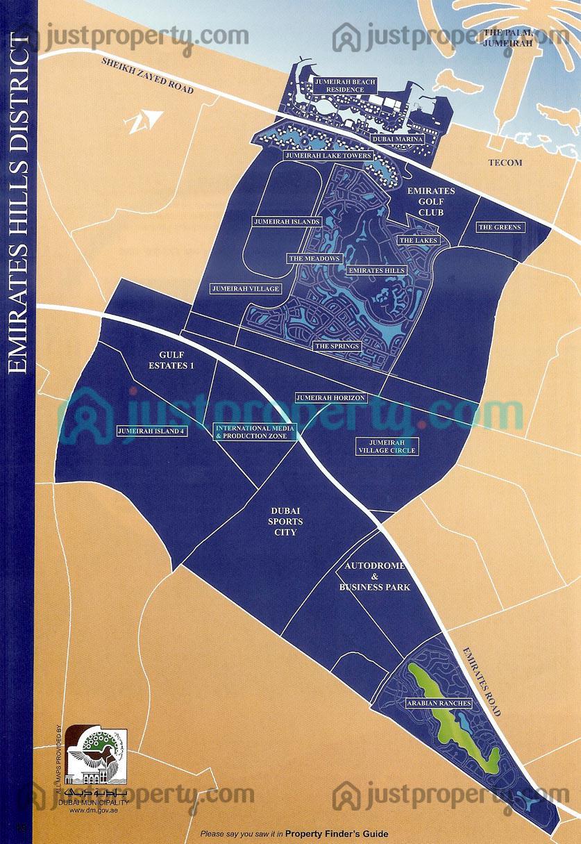 Floor Plans for Dubai District Maps