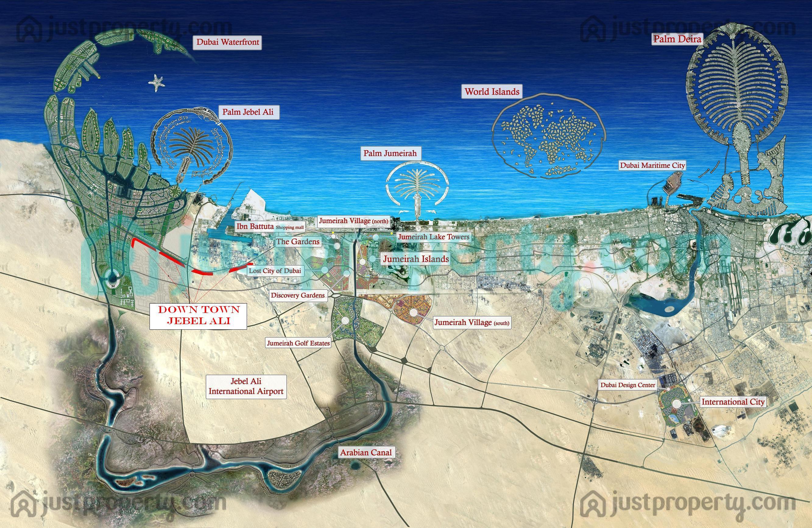 Dubai District Maps Floor Plans | JustProperty.com on