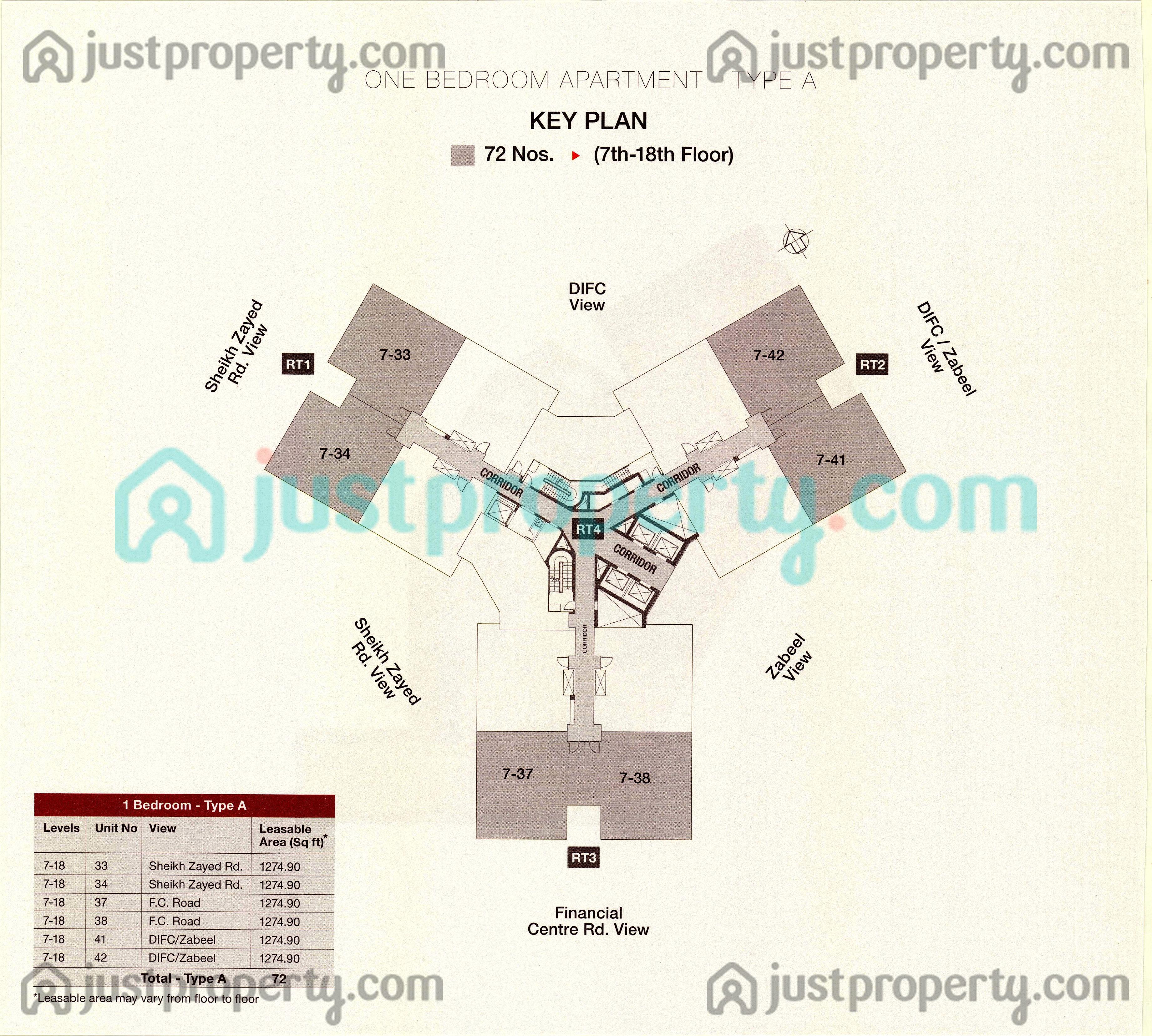 Floor Plans for Central Park at DIFC