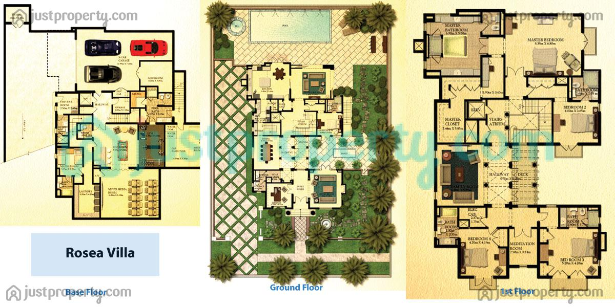 Dubai Lifestyle City Villas Floor Plans