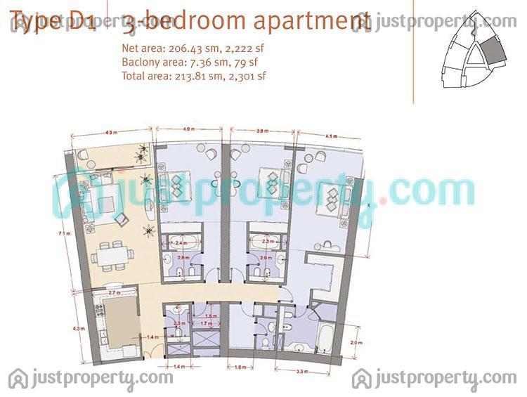 Floor Plans for Al Fattan Marina Towers