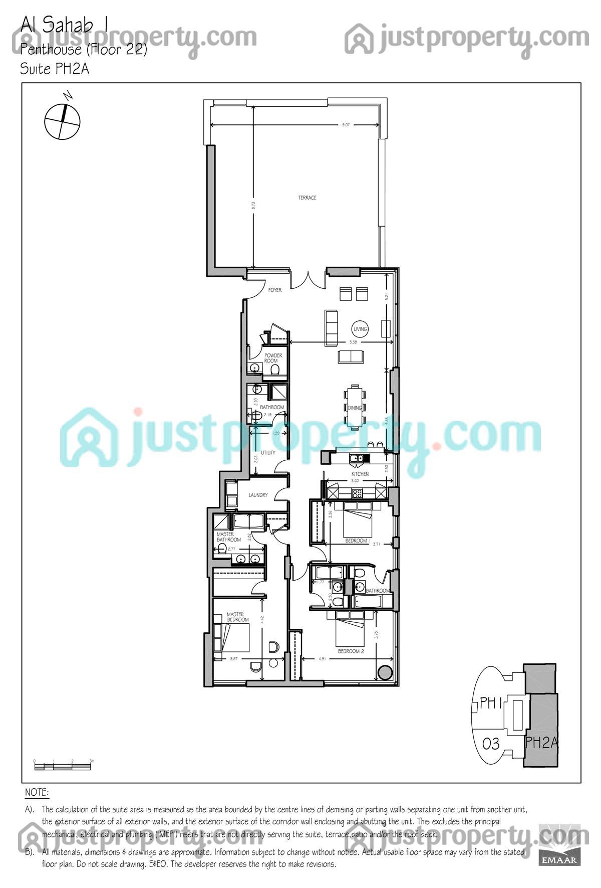 Al Sahab T1 Version 1 Floor Plans Justproperty Com