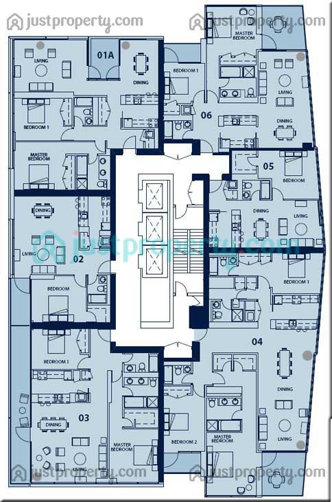 Al Sahab Tower 2 Floor Plans Justproperty Com