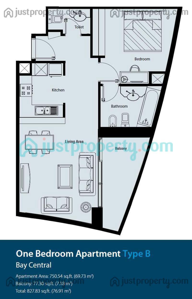 Bay Central Central Tower Floor Plans | JustProperty.com