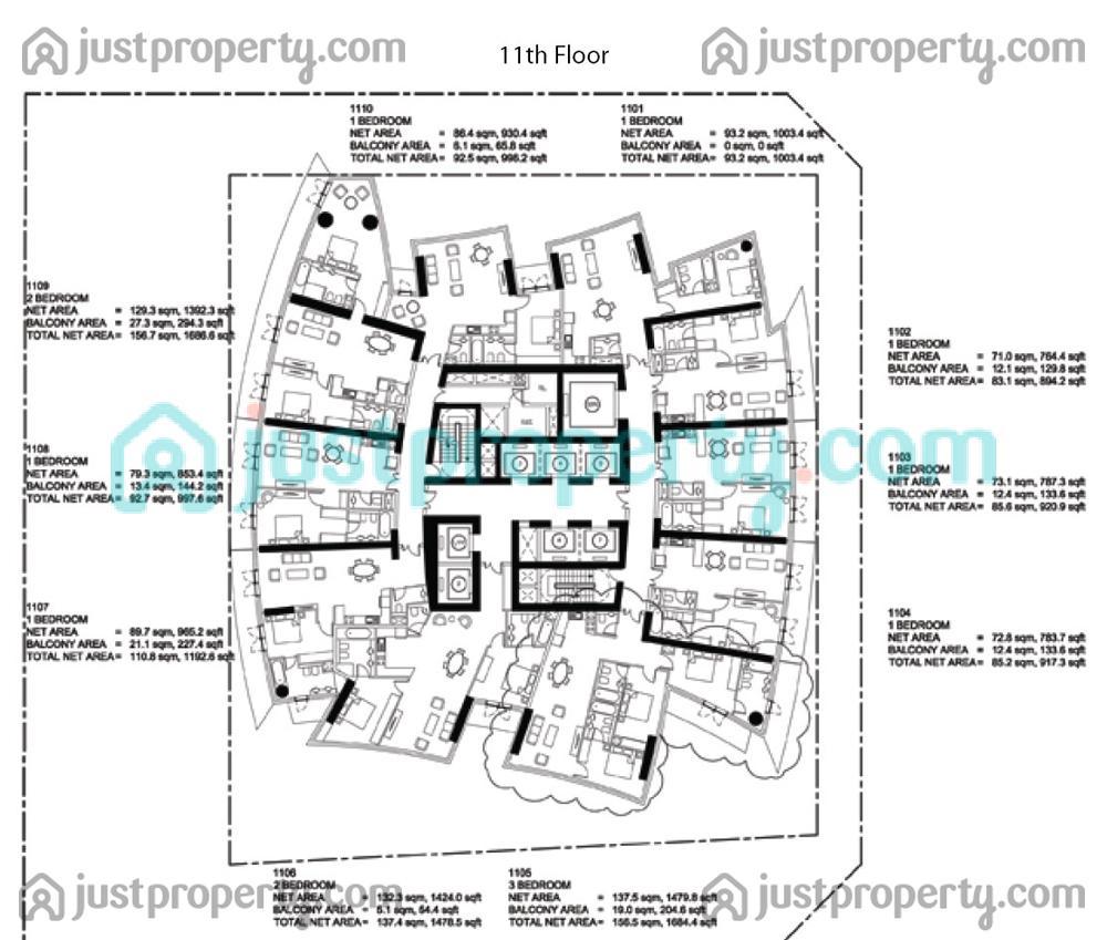 Damac Heights Floor Plans Justproperty Com