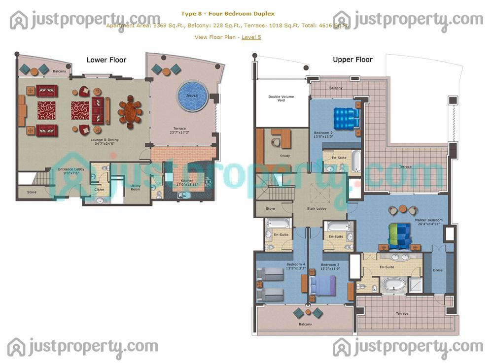 Floor Plans for Emerald Residence