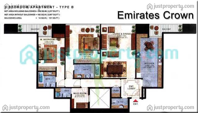 Floor Plans for Emirates Crown