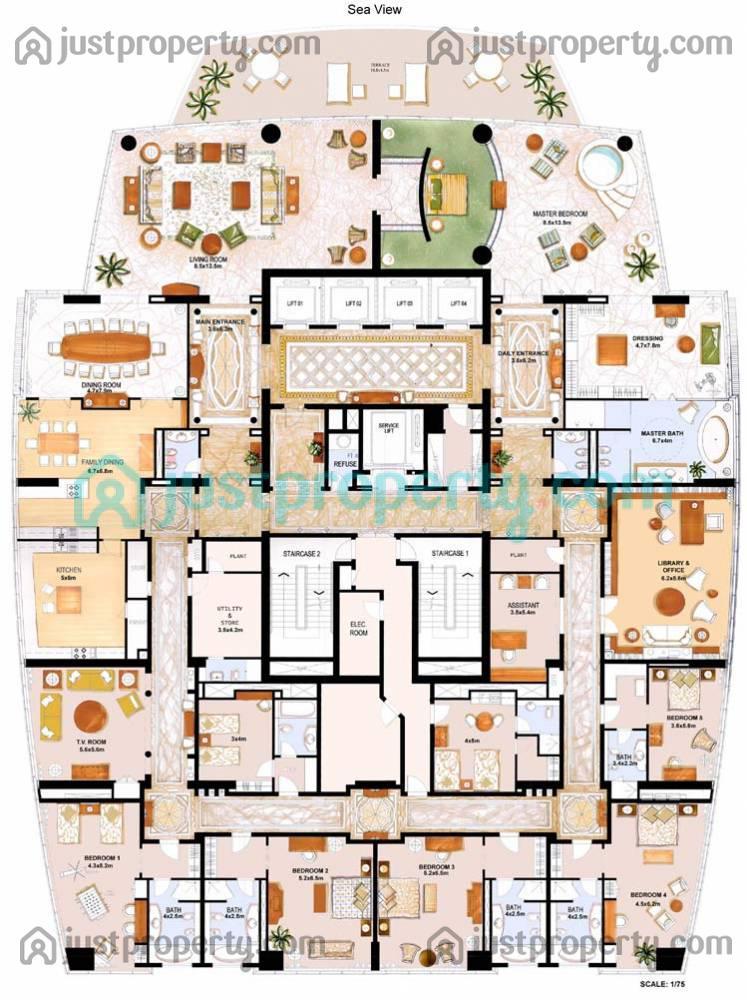 Floor Plans for Le Reve