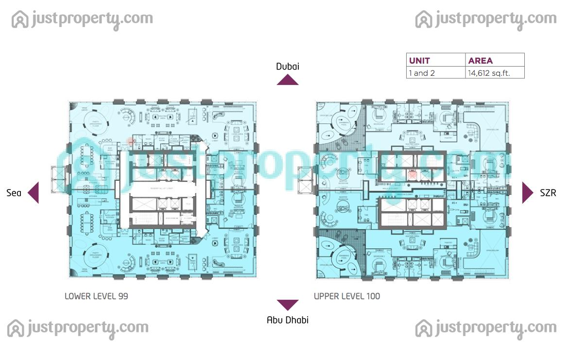 Penthouse floor plans - Lay outs penthouse ...