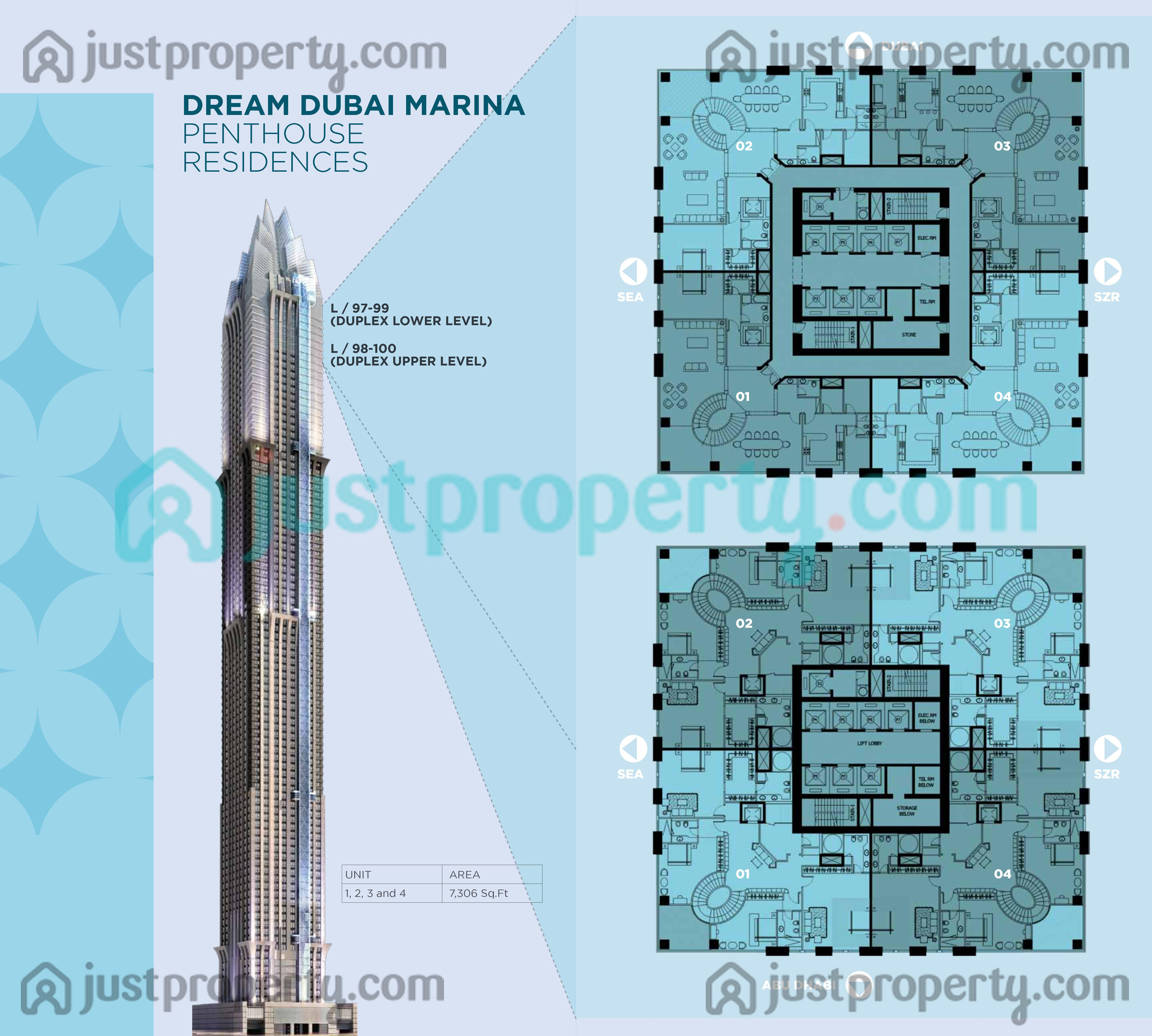 Marina 101 Dream Tower Floor Plans Justproperty Com