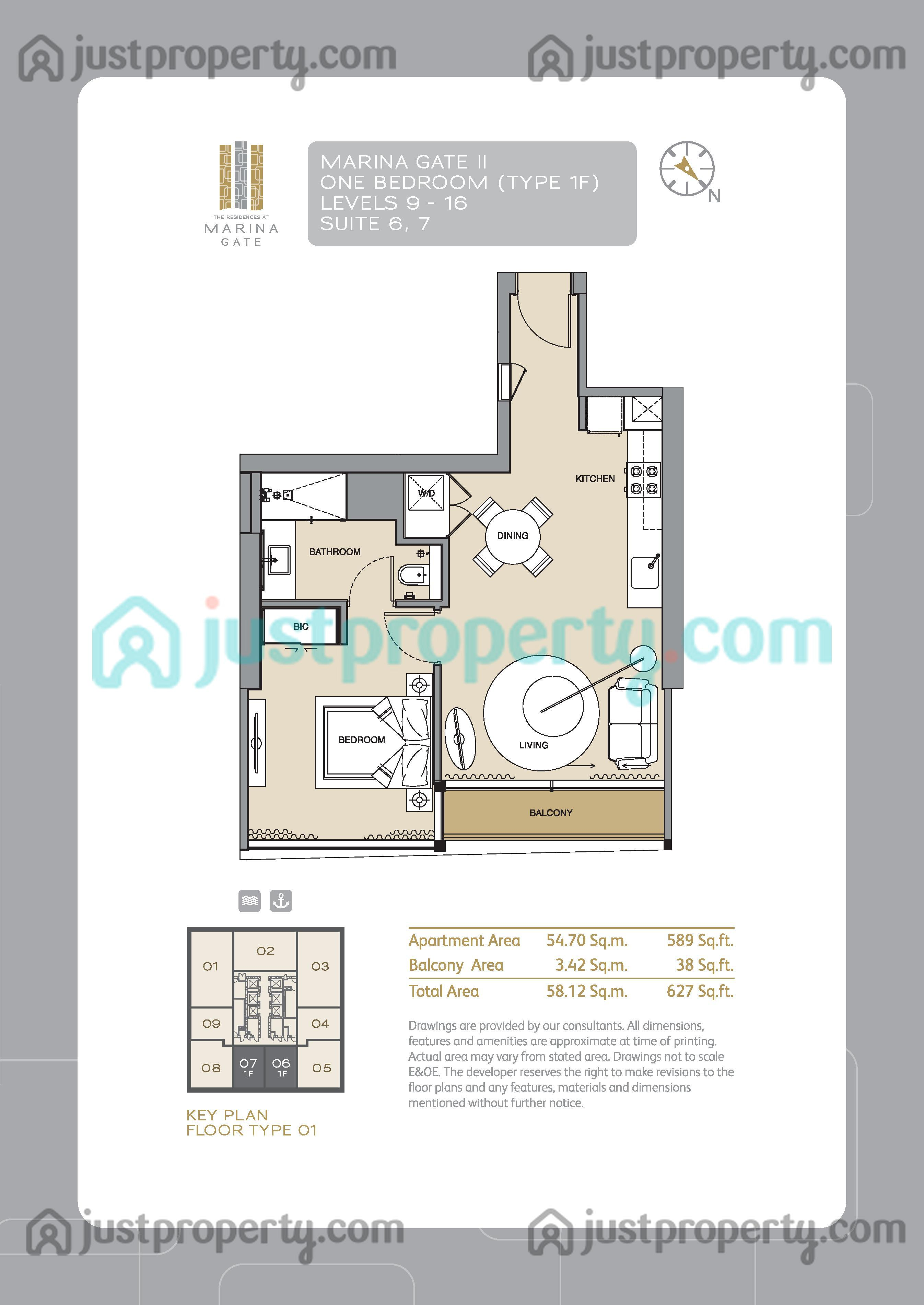 Marina Gate Tower 2 Floor Plans Justpropertycom