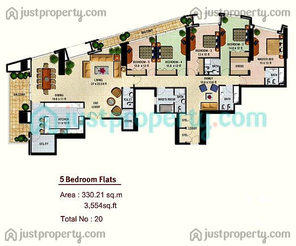 Floor Plans for Marina Height