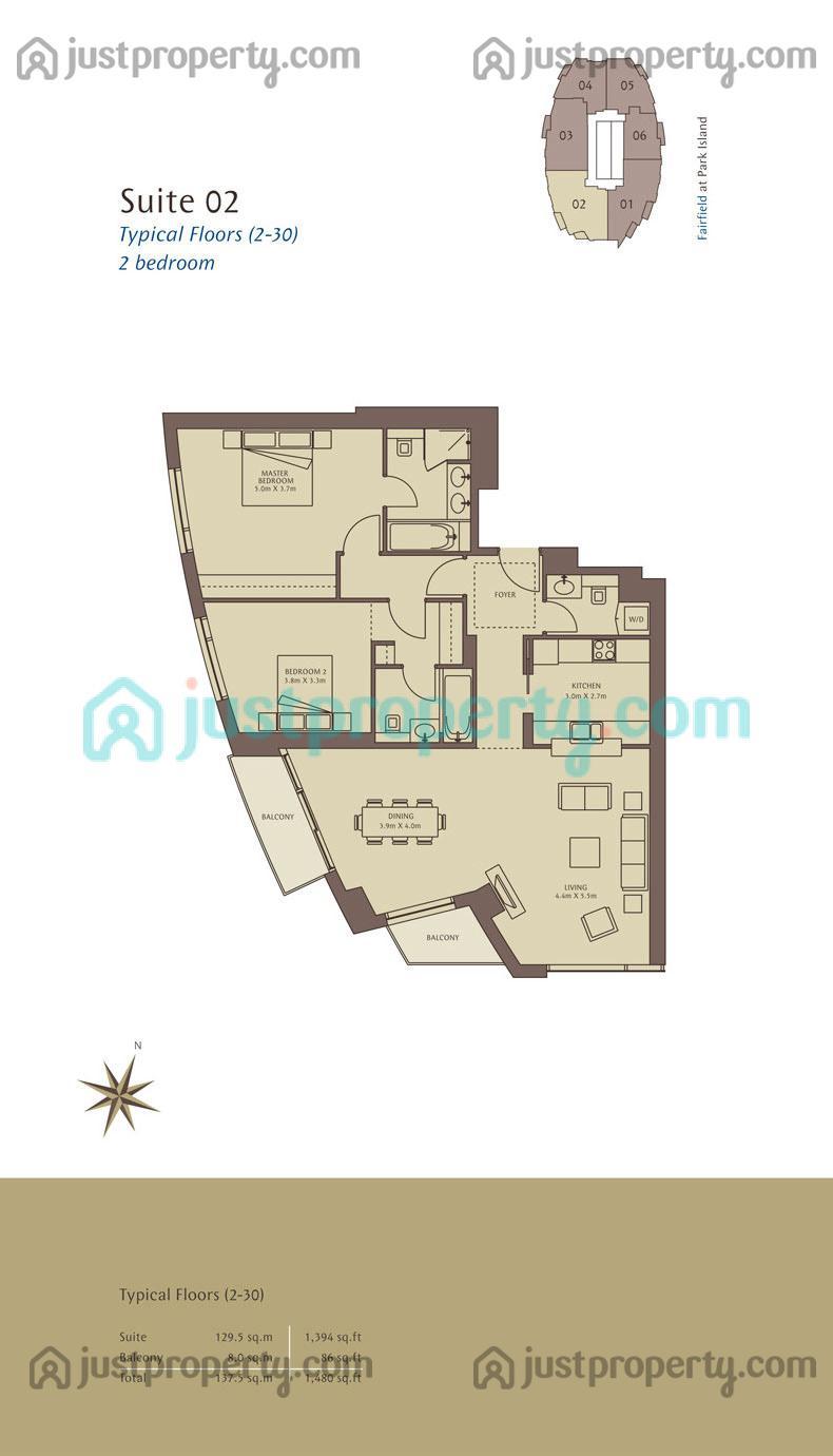 Fairfield floor plans for Floor plans jumeirah islands