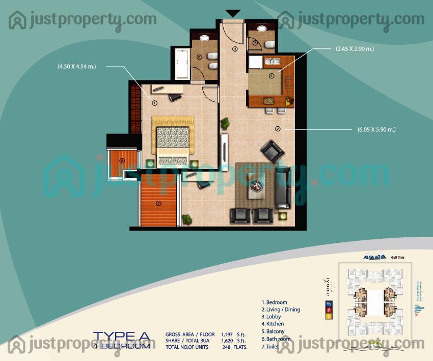 Sulafa Tower Floor Plans   JustProperty.com