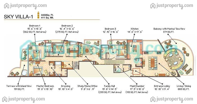 Floor Plans for The Waterfront