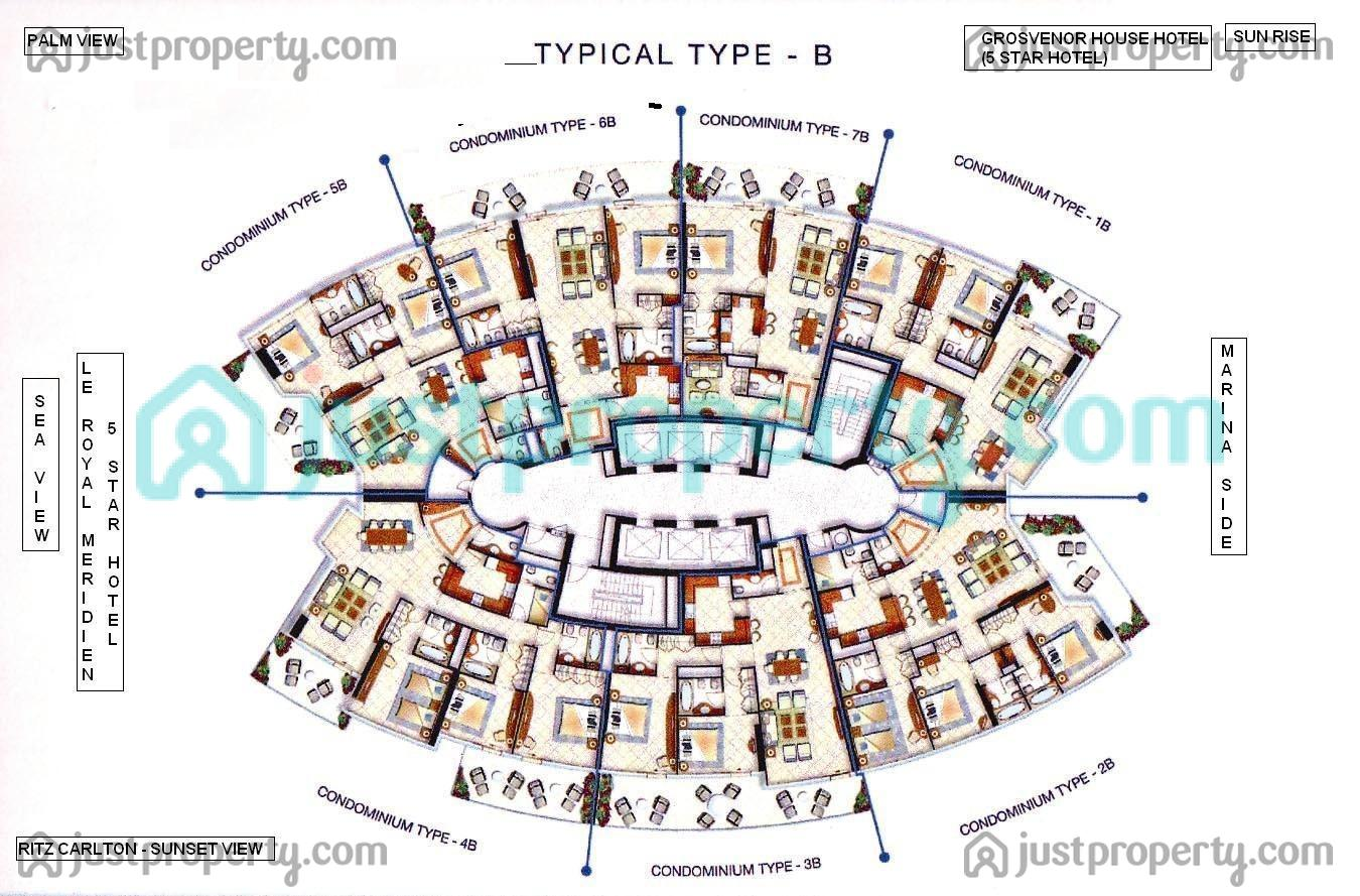 hotel floor plans. Complete Floor Plan B Type Hotel Plans