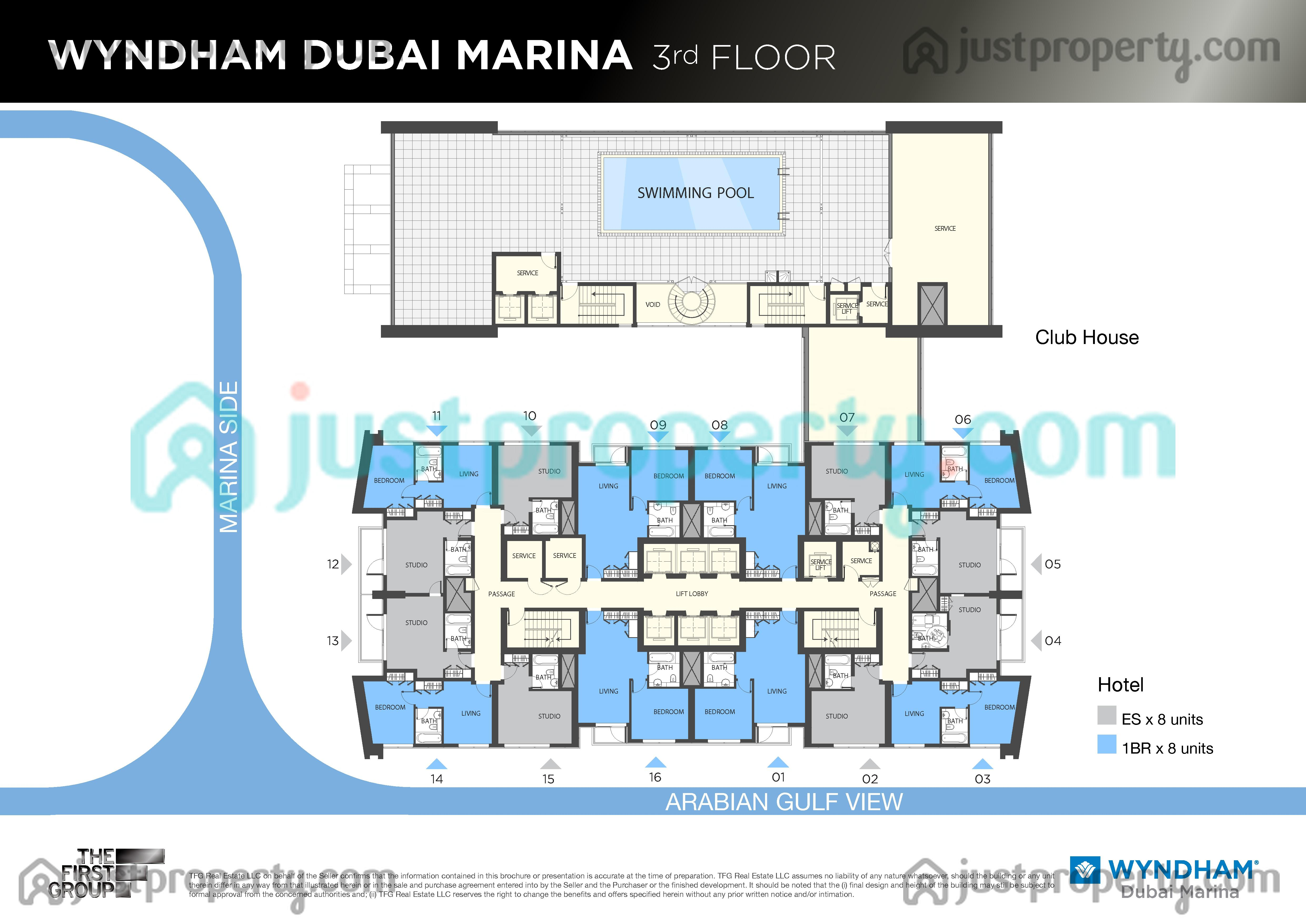 Wyndham marina floor plans for Floor plans zulal lakes dubai