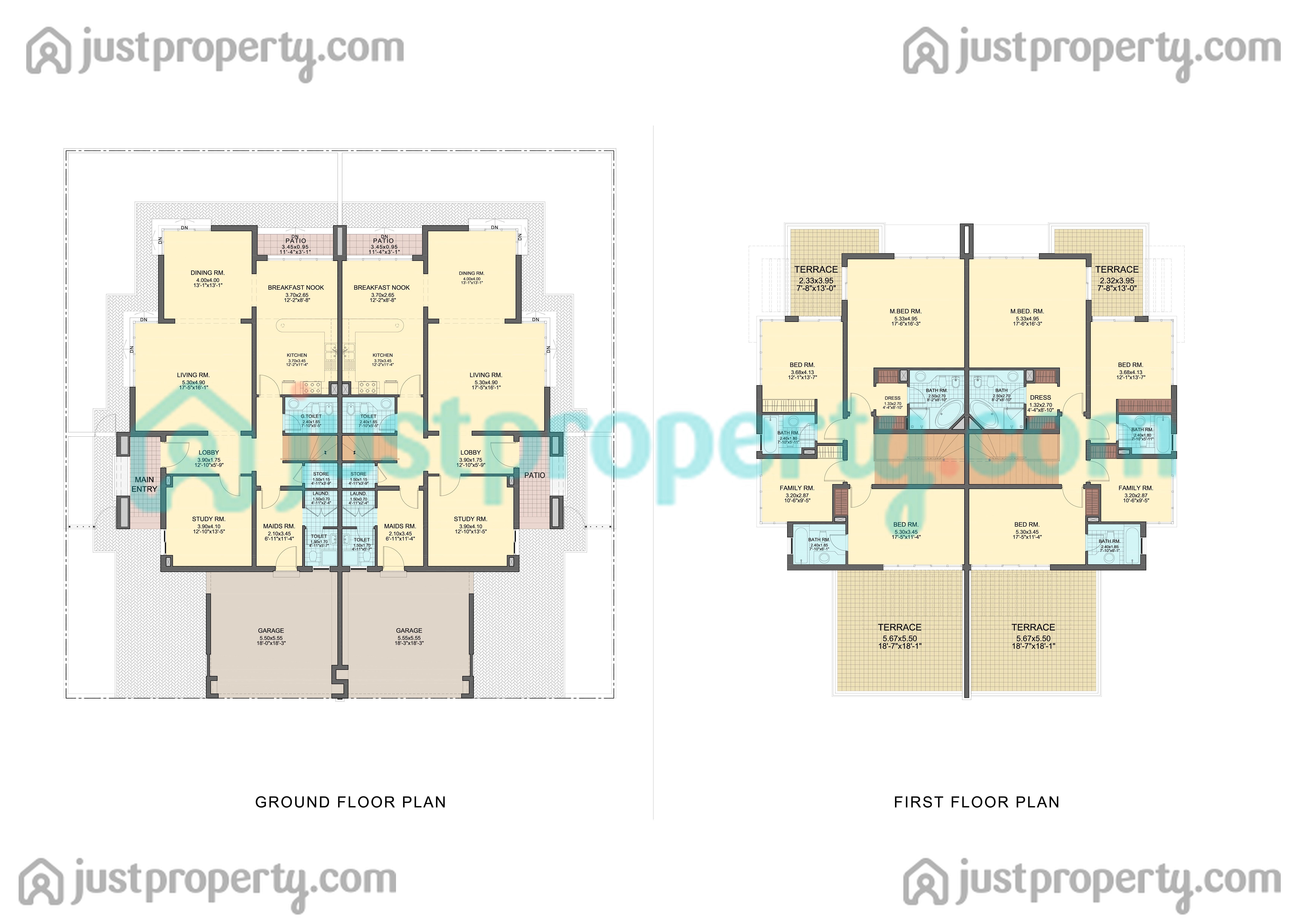 Floor Plans For Modern Townhouse