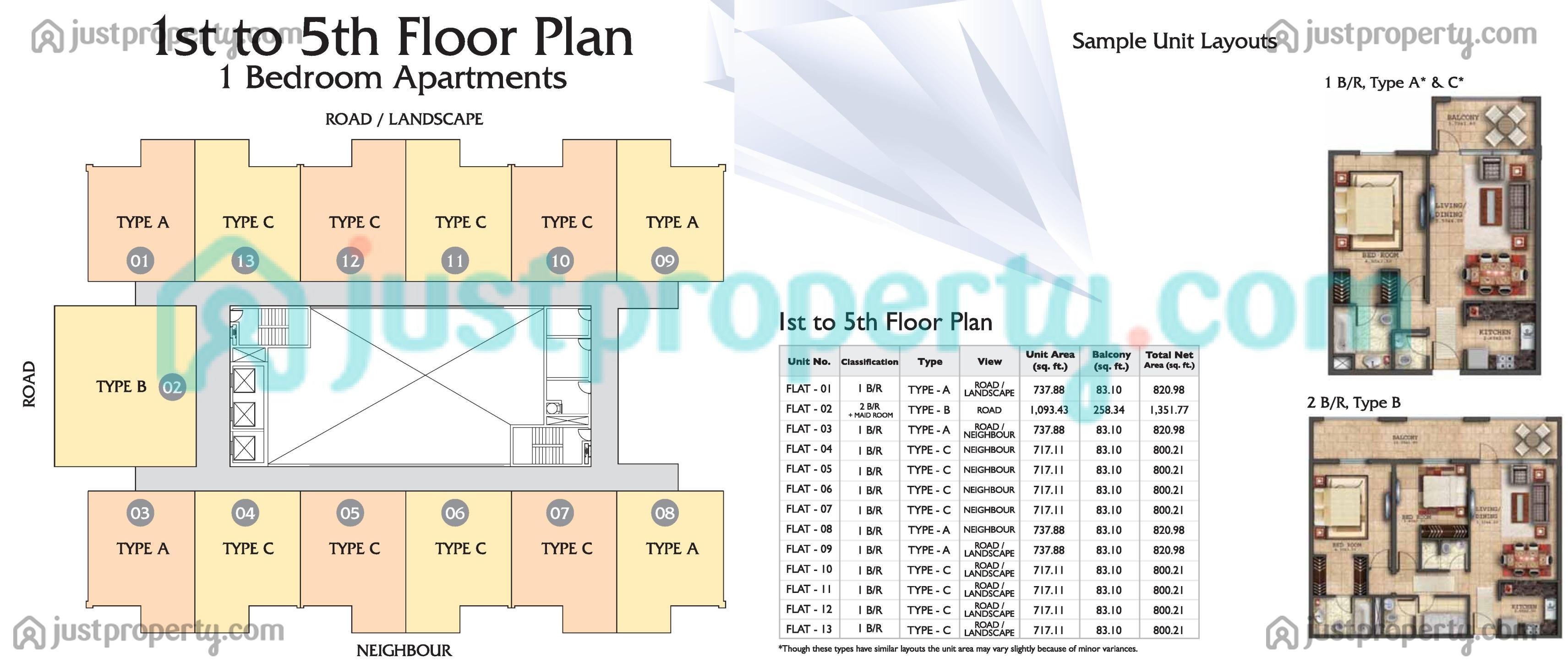 Sapphire Residence Floor Plans Justproperty Com