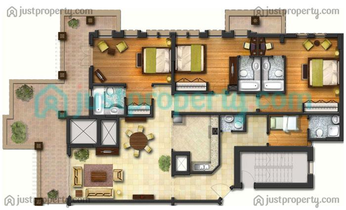 Canal Residence Floor Plans