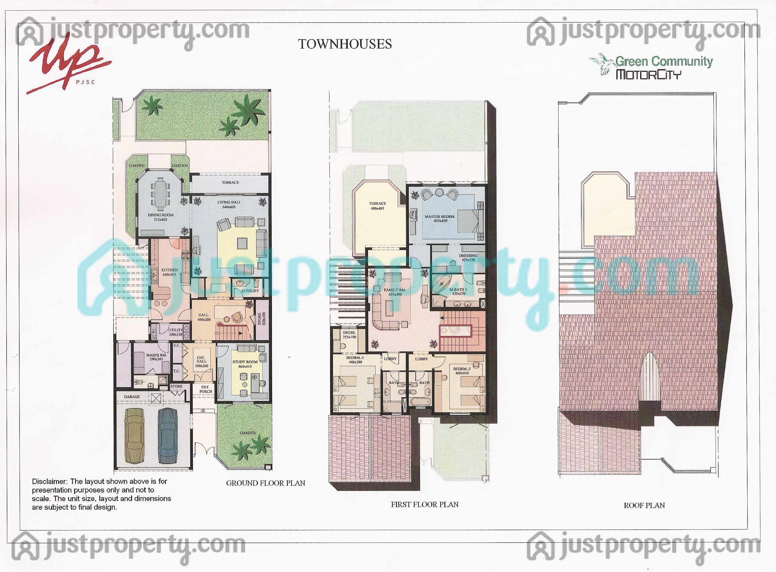 Floor plans for townhouses