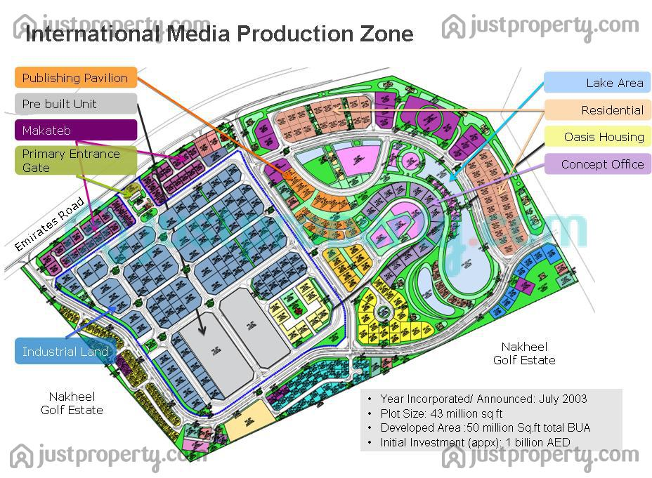 Floor Plans for International Media Production Zone (IMPZ)